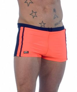 Mens Swimming Trunks - Blue & Orange - Mens Trunks